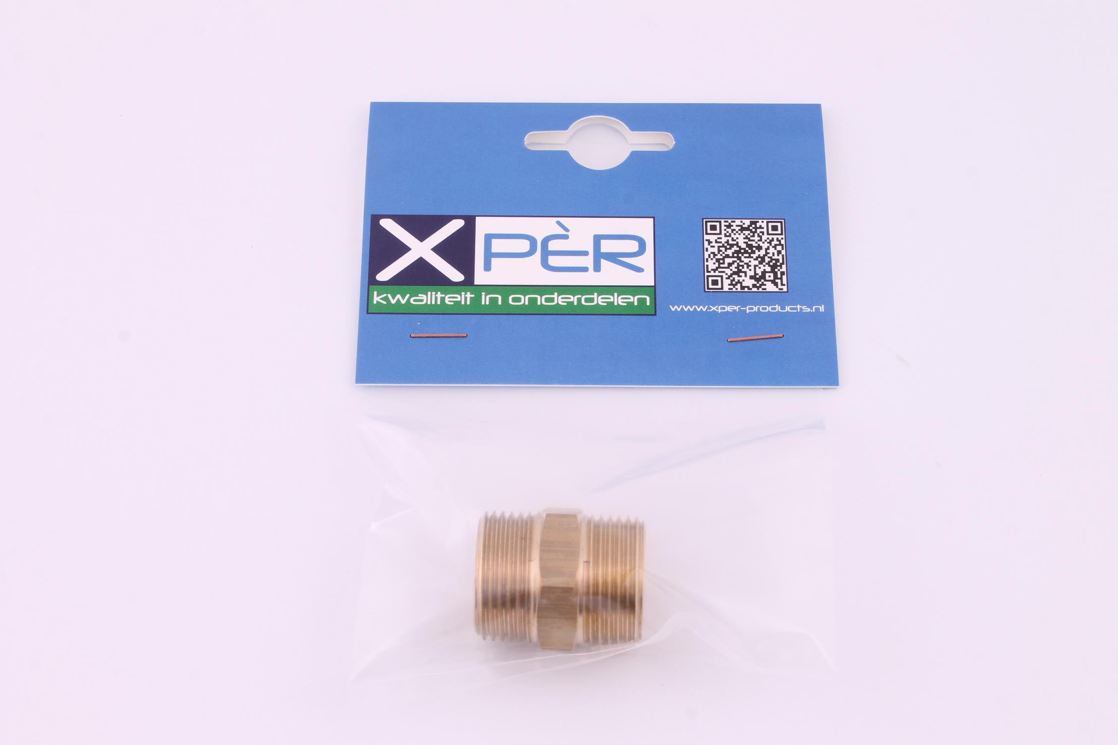 Xper Products Xper Koppelstuk Aanvoer Messing