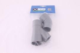 ZOS Bocht en Y-stuk PVC 40mm grijs